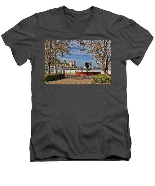 The Downtown Bradenton Waterfront Men's V-Neck T-Shirt