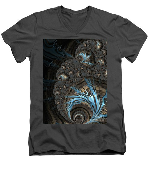 The Drama Between Earth And Sky Men's V-Neck T-Shirt