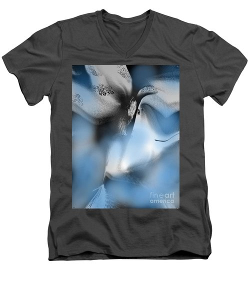 Men's V-Neck T-Shirt featuring the digital art The Dream Of Sorrow by Yul Olaivar