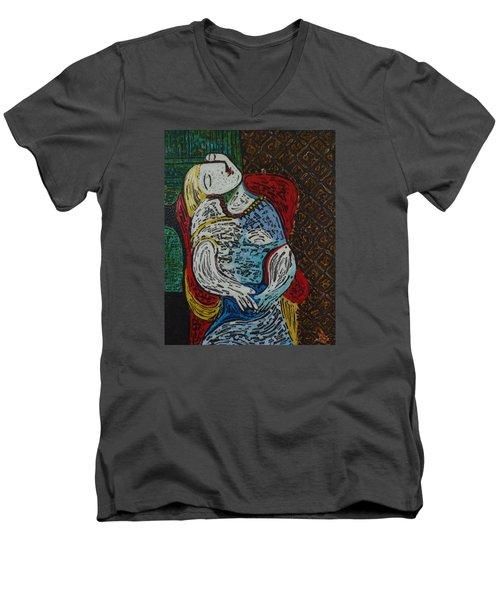 The Dream Walker -le Reve Zombi  Men's V-Neck T-Shirt