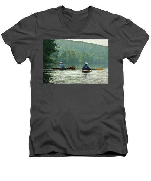 Men's V-Neck T-Shirt featuring the photograph The Dreamers by Tom Cameron