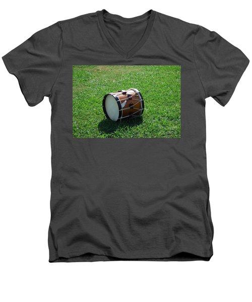 The Drum Men's V-Neck T-Shirt by Eric Liller