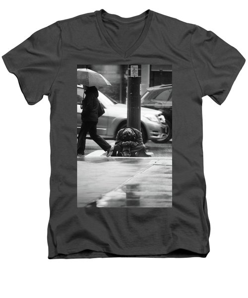The Dry People Men's V-Neck T-Shirt by Empty Wall