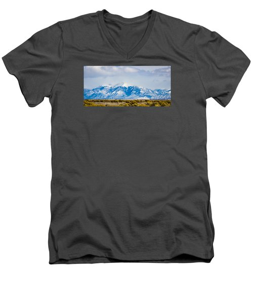 The Eagle Or Condor And Heart Men's V-Neck T-Shirt