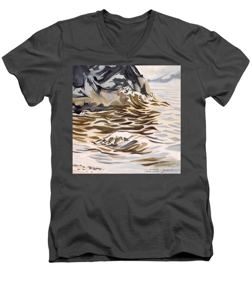 The Eagles Nest At Gower Point Men's V-Neck T-Shirt