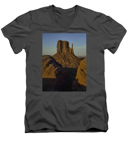 The Earth Says Hello Men's V-Neck T-Shirt by Rob Wilson