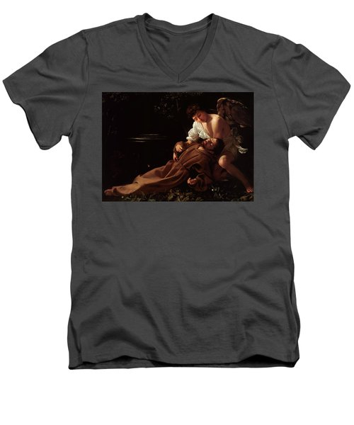 The Ecstacy Of Saint Francis Of Assisi Men's V-Neck T-Shirt