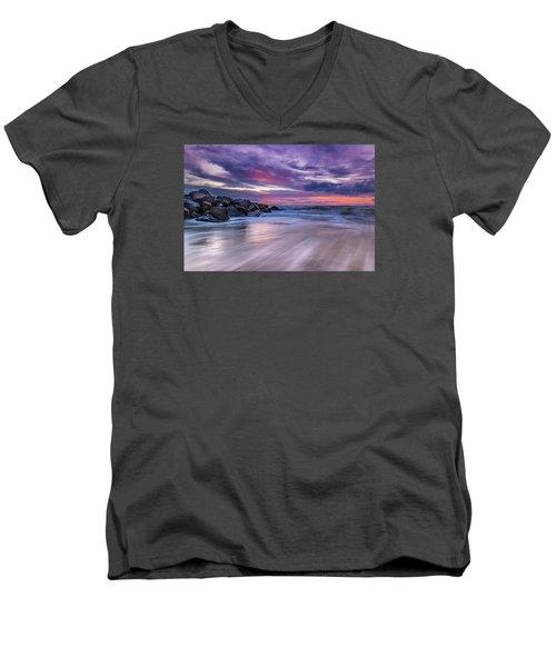 The Edge - Folly Beach, Sc Men's V-Neck T-Shirt