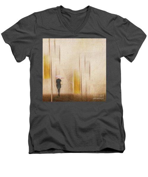 The Edge Of Autumn Men's V-Neck T-Shirt