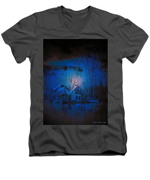 The Edge Of Night Men's V-Neck T-Shirt by Steve Warnstaff