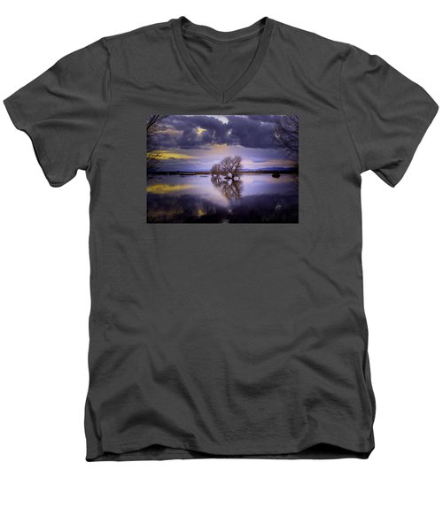 The Edge Of Sunset Men's V-Neck T-Shirt