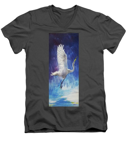 The Egret Men's V-Neck T-Shirt