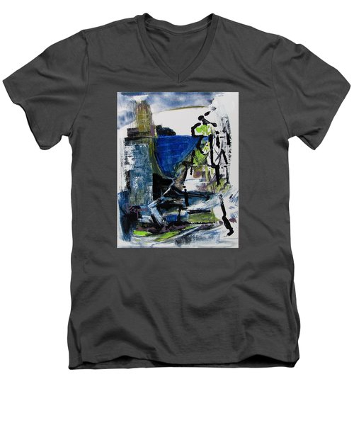 The Elements Men's V-Neck T-Shirt by Betty Pieper