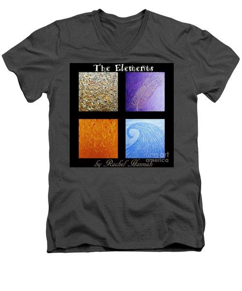 The Elements Men's V-Neck T-Shirt by Rachel Hannah
