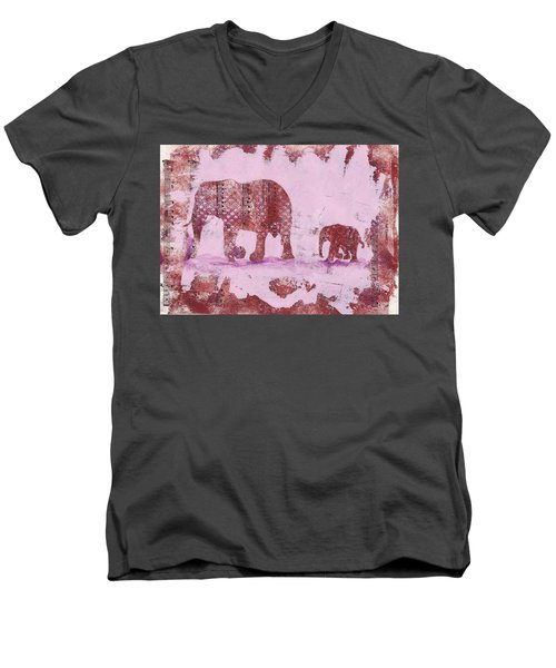 The Elephant March Men's V-Neck T-Shirt