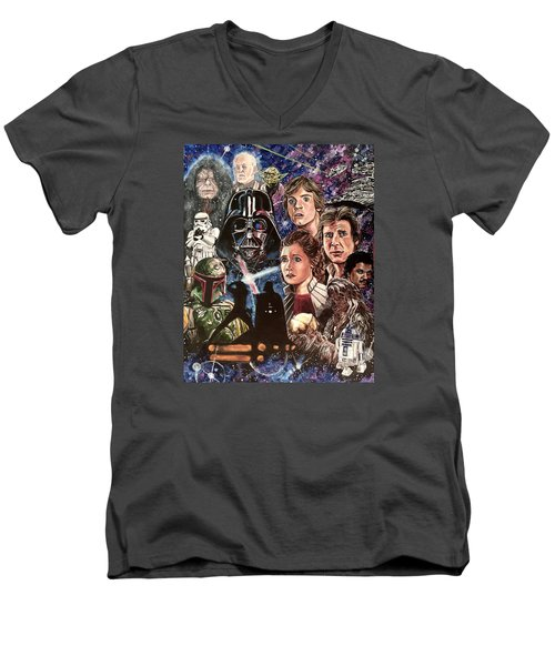 The Empire Strikes Back Men's V-Neck T-Shirt