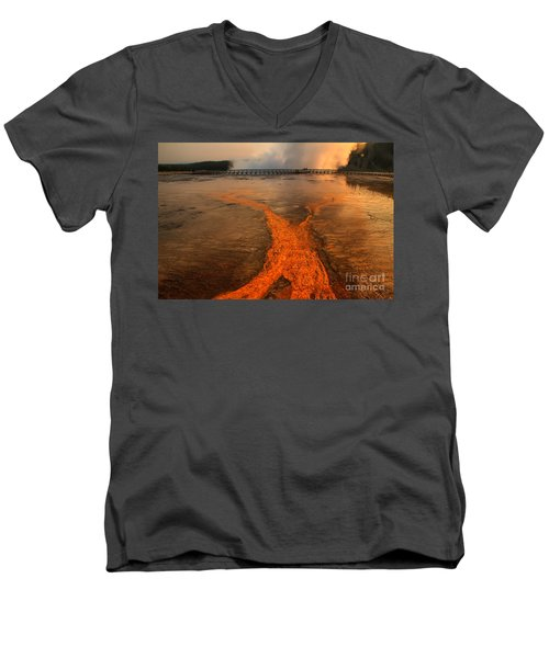 The Enchantment Of Grand Prismatic Spring Men's V-Neck T-Shirt