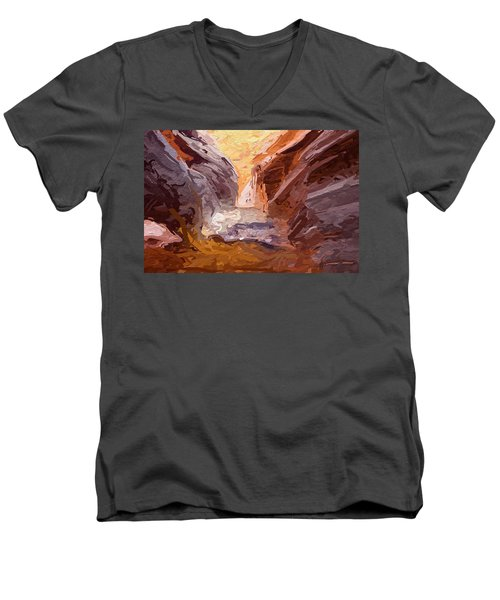 The Encroaching Ocean Men's V-Neck T-Shirt