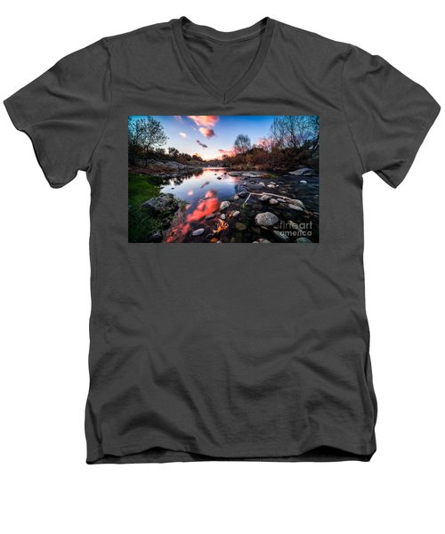 The End Of Autumn Men's V-Neck T-Shirt by Giuseppe Torre