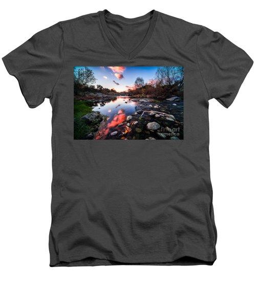 The End Of Autumn Men's V-Neck T-Shirt