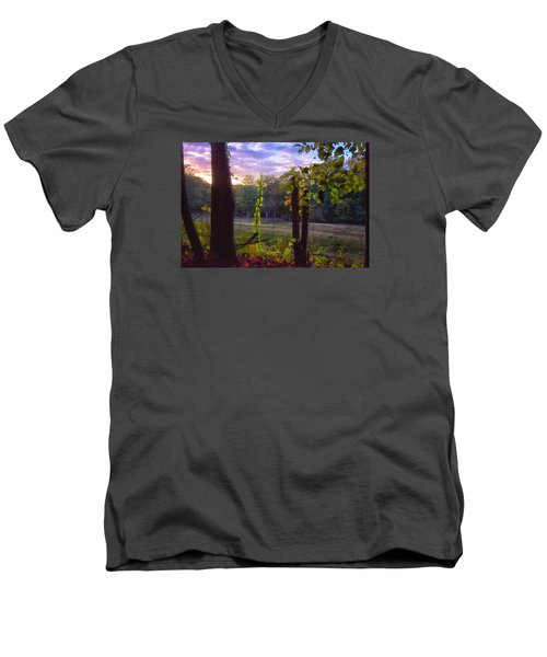 The End Of The Day Men's V-Neck T-Shirt by Tricia Marchlik