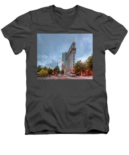 The English--american Building. Atlanta Men's V-Neck T-Shirt