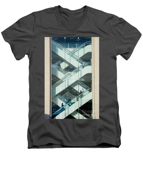 The Escalators Men's V-Neck T-Shirt by Colin Rayner