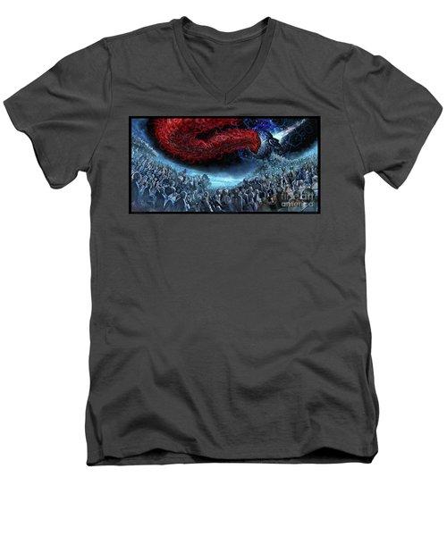 The Essence Of Time Matches No Flesh Men's V-Neck T-Shirt