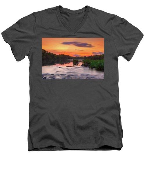 The Eve On The River Men's V-Neck T-Shirt