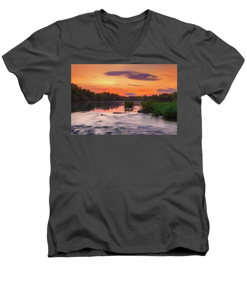 The Eve On The River Men's V-Neck T-Shirt