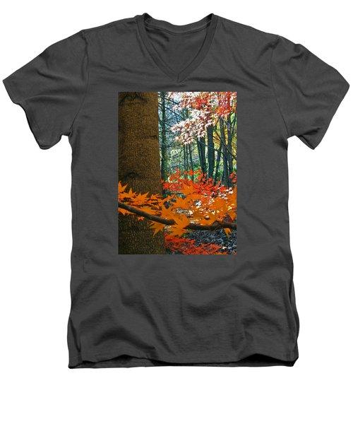 The Ever Elusive Power Lines  But I Got Them Men's V-Neck T-Shirt by Cliff Spohn