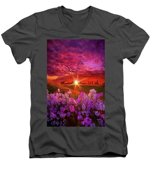 Men's V-Neck T-Shirt featuring the photograph The Everlasting by Phil Koch