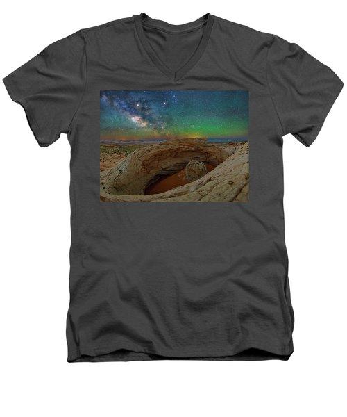 The Eye Of Earth Men's V-Neck T-Shirt