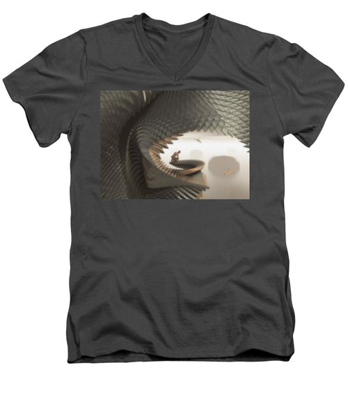 The Eyrie Men's V-Neck T-Shirt by John Alexander