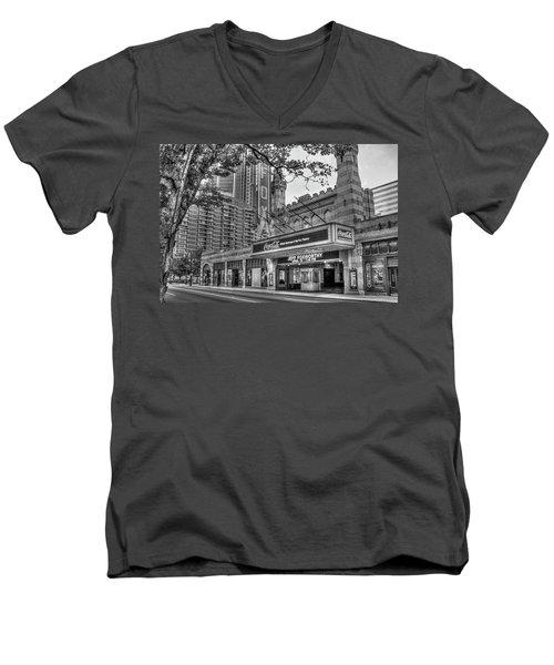 The Fabulous Fox Theatre Bw Atlanta Georgia Art Men's V-Neck T-Shirt