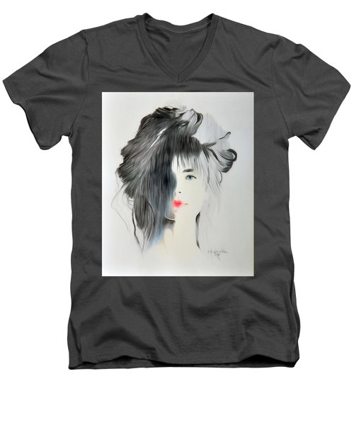 The Face - Digitalart Men's V-Neck T-Shirt