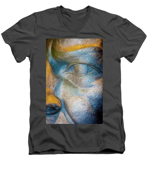 The Face Is A Picture Of The Mind With The Eyes As Its Interpreter. Cicero Men's V-Neck T-Shirt