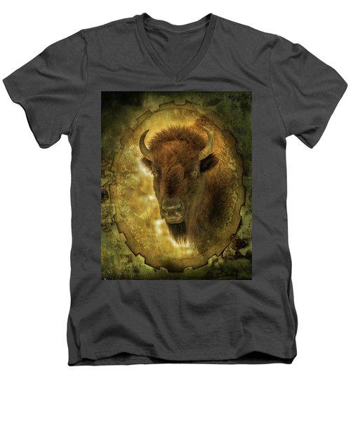 The Face Of Tatanka Men's V-Neck T-Shirt