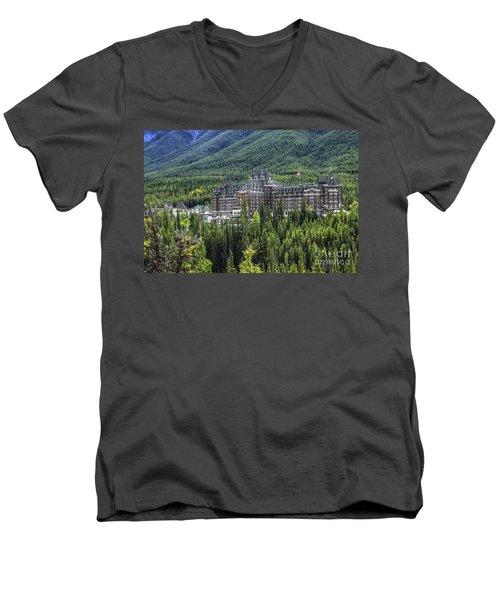The Fairmont Banff Springs Men's V-Neck T-Shirt