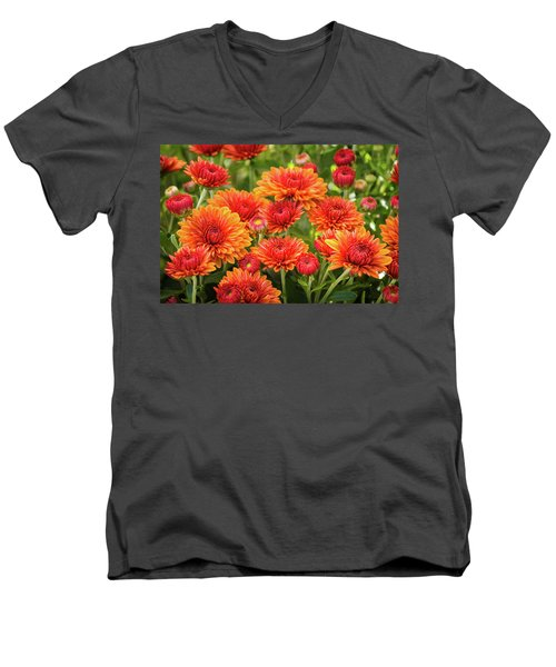 Men's V-Neck T-Shirt featuring the photograph The Fall Bloom by Bill Pevlor