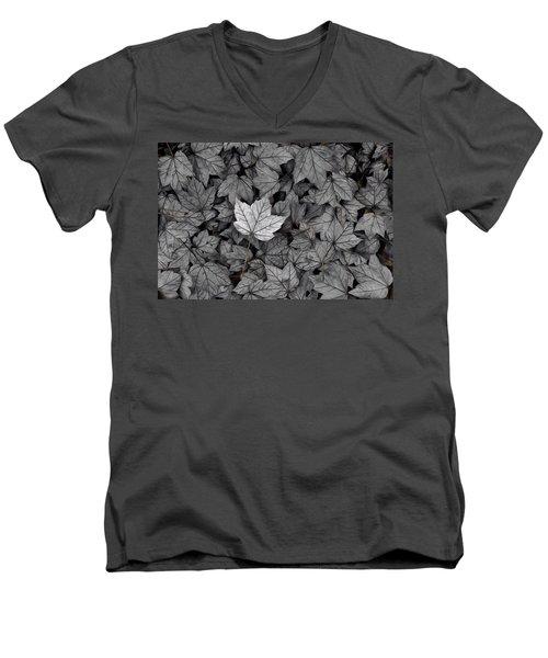 Men's V-Neck T-Shirt featuring the photograph The Fallen by Mark Fuller
