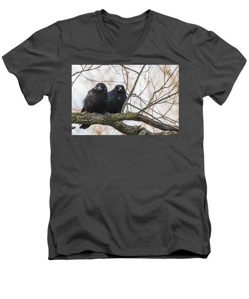 Men's V-Neck T-Shirt featuring the photograph The Family by Sergey Simanovsky