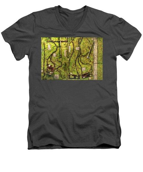 The Family Swing Set Men's V-Neck T-Shirt