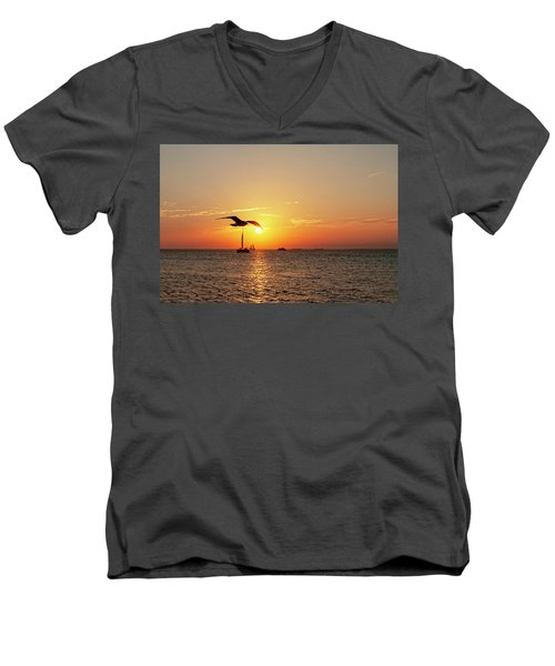 The Famous Key West Sunset  Men's V-Neck T-Shirt