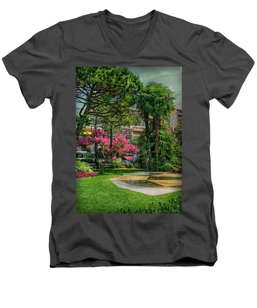 Men's V-Neck T-Shirt featuring the photograph The Fancy Swiss South-west by Hanny Heim