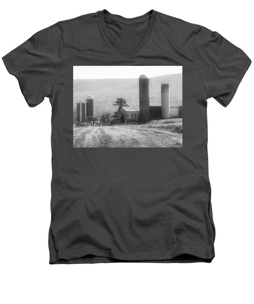 The Farm-after Harvest Men's V-Neck T-Shirt by Robin Regan