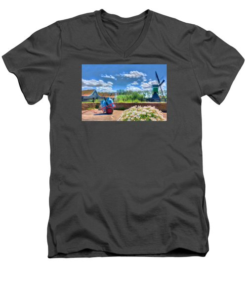 The Farm Men's V-Neck T-Shirt by Nadia Sanowar