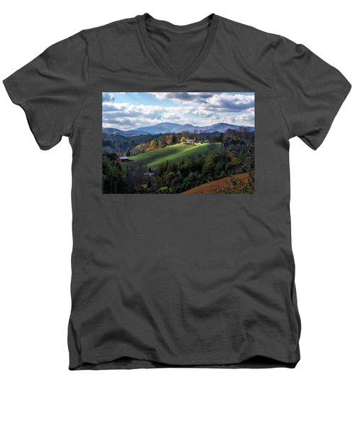 The Farm On The Hill Men's V-Neck T-Shirt