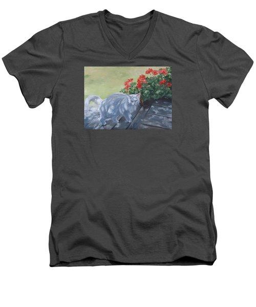 A Feral Cloud Men's V-Neck T-Shirt by Connie Schaertl