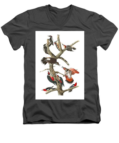 Men's V-Neck T-Shirt featuring the photograph The Fight by Munir Alawi